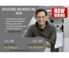 Hiring for Operations & Marketing Head