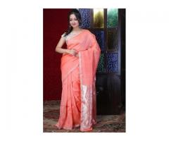 Best linen sarees online with fastest delivery worldwide