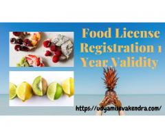 Best Service for Food License Registration 1 year validity @ 8538976655