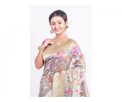 Exclusive Opara silk sarees online for wedding and reception parties